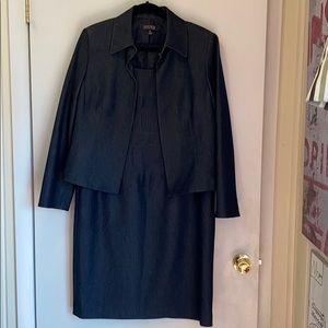 NWOT Kasper denim dress suit